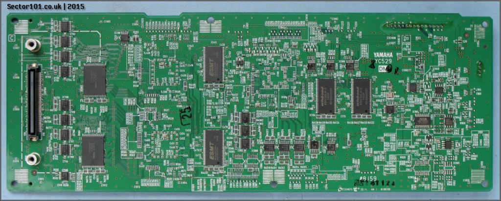 Yamaha MOXF-6 Main PCB - Bottom Side