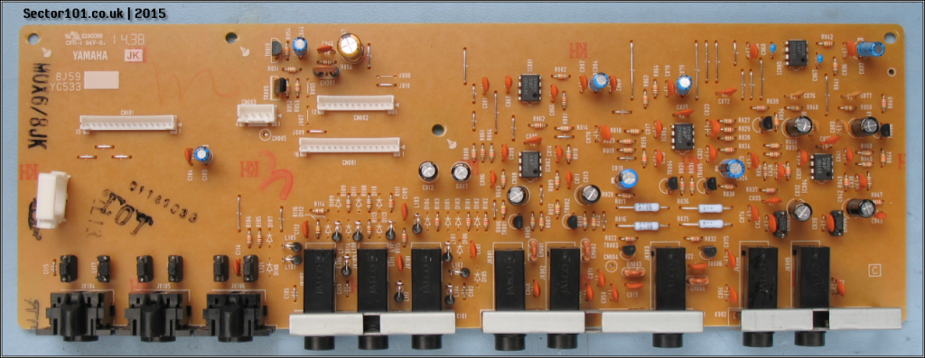 Yamaha MOXF-6 IO PCB