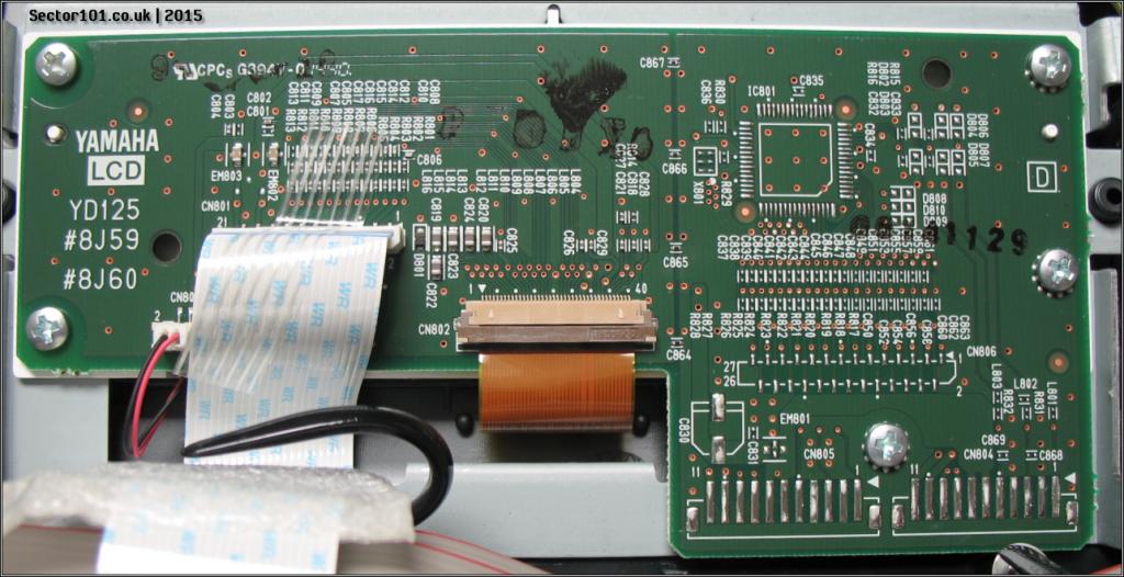 Yamaha MOXF-6 LCD PCB